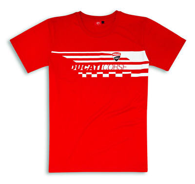 Ducati Corse Red Check short Sleeve T-Shirt Men's Shirt Red 98769739+ Reduced
