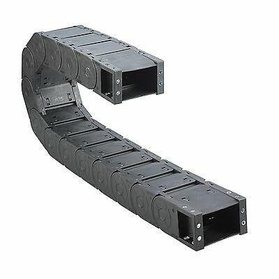 1M, Large Energy Chain 35x 75,100,125mm with Lid - Carriers -kabelführung