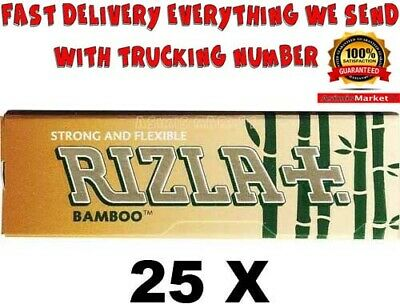 Rizla Bamboo Smoking RollingPapers 25 Booklets RegularSize 1250Sheets unbleached