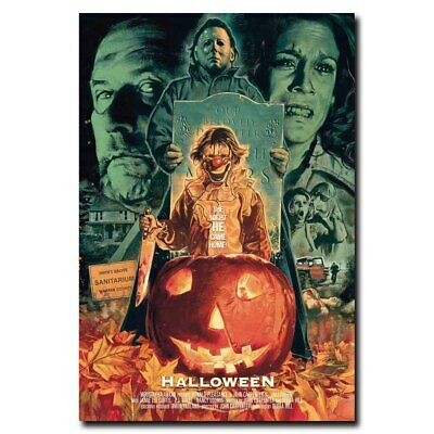 Halloween 12x18/24x16inch Classic Horror Movie Silk Poster Hot Art Print