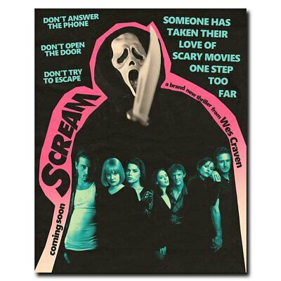 Scream 12x15inch Classic Horror Movie Silk Poster Hot Wall Decoration Cool Gifts
