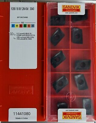 R390-180612M KM 3040 Sandvik Carbide Inserts The listing is for 1 box