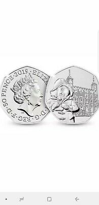 NEW Paddington Bear Tower Of London 50p Coin 2019 uncirculated collectable coins