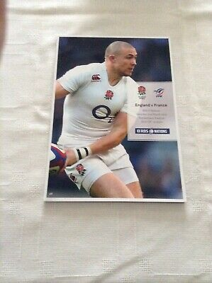 Rugby Union Programmes england v france 2015