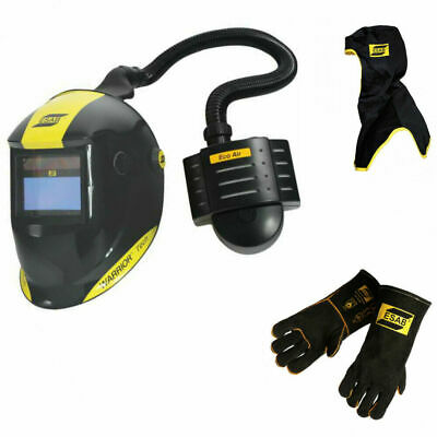 ESAB Warrior Tech Welding Helmet with Eco Air PAPR Unit + FREE Hood & Gloves