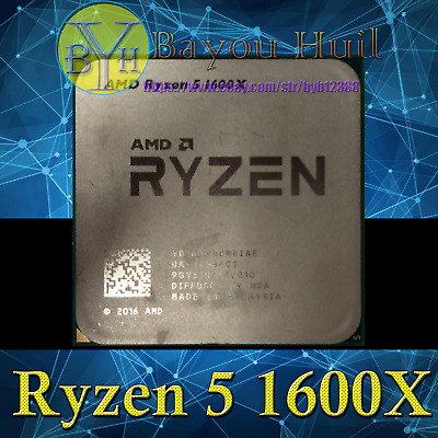 AMD Ryzen 5 1600X 3.6GHz 6-Core/12-Threads DDR4 95W Socket AM4 CPUs/Processors