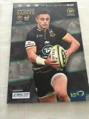 Rugby Union Programmes northampton v wasps 2015