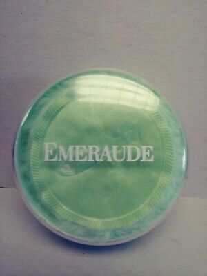 Vintage Emeraude Dusting powder by Coty, 4 ounce size opened no box
