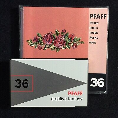 Roses Embroidery Designs Card 36 for Pfaff Creative Embroidery Machines