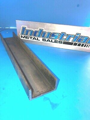 """A-36 HR Steel Channel 2"""" x 1"""" x 12""""-Long x 1/8"""" Thick"""