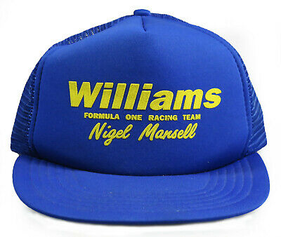 Vintage Nigel Mansell Williams Formula One F1 Racing Team Mesh Trucker Cap Hat