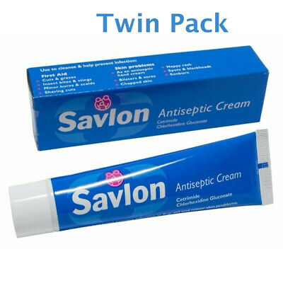 2 x Savlon Antiseptic Cream 30g First Aid Cream Prevent Infection Exp Date 01/20