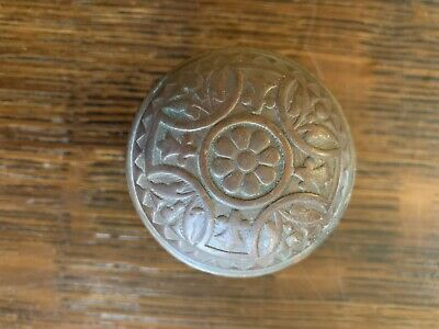 "Antique Victorian Ornate Eastlake Doorknob 2-1/4"" 1880's Gothic Hardware #2"