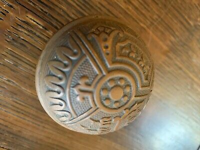 "Antique Victorian Ornate Eastlake Doorknob 2-1/4"" 1880's Gothic Hardware"