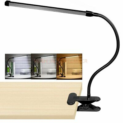 Led Clip on Desk Edge Light Gooseneck Piano Eye Care Reading Lamp Dimmable USB