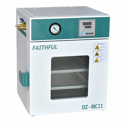 """GOOD! Stainless Steel Digital Vacuum Drying Oven 250°C 12x12x11"""""""