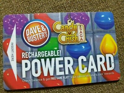 Dave and Busters Power Card w/ 33,500+ redemption tickets + chips & 115+ points