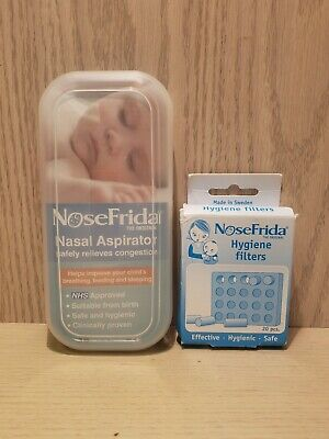 Fridababy NoseFrida Nasal Aspirator with 20 Extra Hygiene Filters NEW!