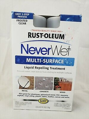 Never Wet Rust-Oleum Multi-Surface Liquid Repelling Treatment Kit Frosted Clear