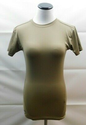 Women's Under Armour Tactical Khaki Heatgear Compression Shirt Size Small