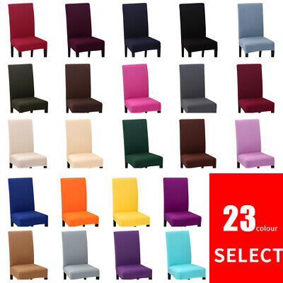 Dining Chair Covers Spandex Slip Cover Stretch Wedding Banquet Party AU