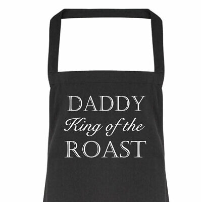 Daddy King of the Roast Apron Gift Present Fathers Day Birthday Christmas
