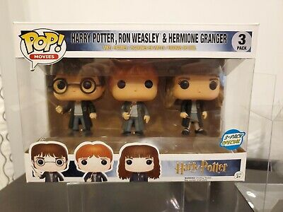Funko Pop Harry Potter 3 Pack....check Pics....in 3 Pack Protector