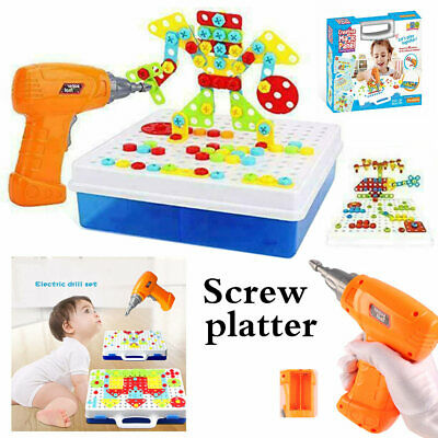 Children Toys Electric Drill Nut Match Tool The Van Electric Drill-Puzzle Gift