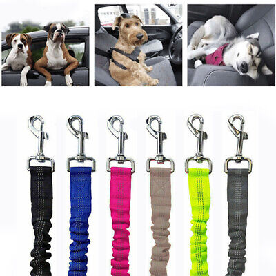 Anti-Shock Safety Harness Pet Dog Car Seat Belt Clip Bungee Lead Vehicle Travel