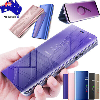 Luxury Mirror View Smart Flip Case Stand Cover For Samsung Note 9 S8 S9 S10 Plus
