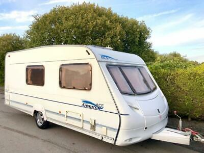 ACE Aristocrat 4 Berth Caravan With Large End Washroom - Awning Included