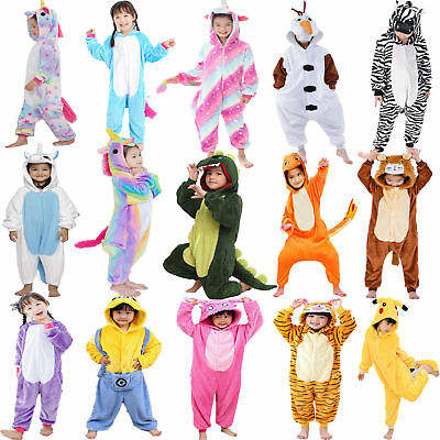 Kid Pajamas Kigurumi Animal Costume Child Onesie01 Fancy Dress Unisex Nightwear