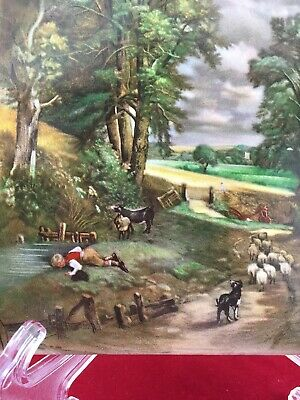 Vintage ~ H R JOHNSON Ceramic Tile made in England ~ English Countryside •NICE•