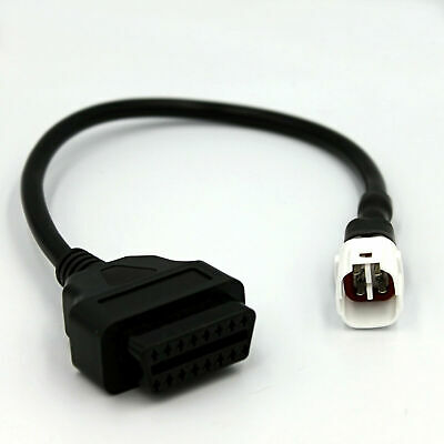 Adapter for Motorcycle Yamaha 4 Pin Plug to OBD 2 OBD2 Adapter Cable Bike