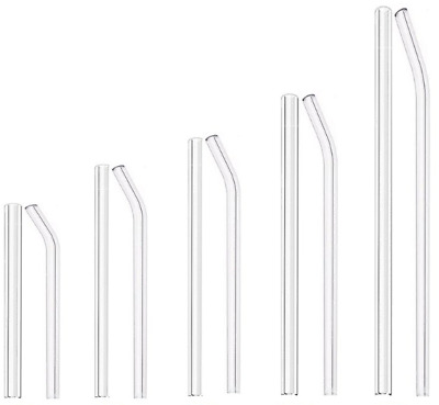 Glass Drinking Straw 200mm Curved Re-Usable Schott Glass Drinking Straw