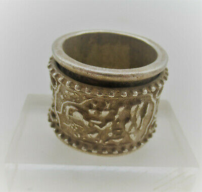 Lovely Antique Chinese Silver Ring With Adjustable Part