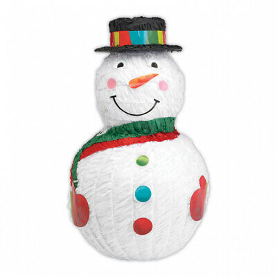 Snowman Pinata - 48cm  x 27cm - Children's Christmas Party Games and Activities