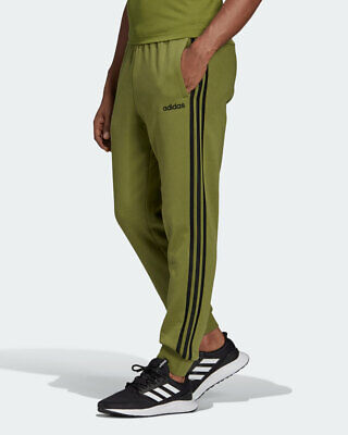 Adidas Pantaloni tuta Pants Verde Essentials 3 Stripes Tapered Fleece Cotone