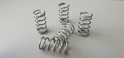 Compression Springs - 1.05mm x 10mm x 20mm - 302 Stainless Steel - Pack of 5