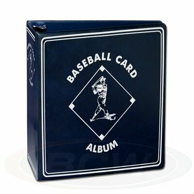 "1 BCW 3"" Blue Baseball Card Storage D-Ring Album Binder Book Display Protect"