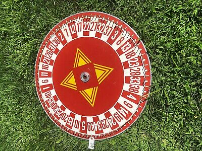 Antique Red  Wood/Metal  Red Gaming/Roulette  Wheet