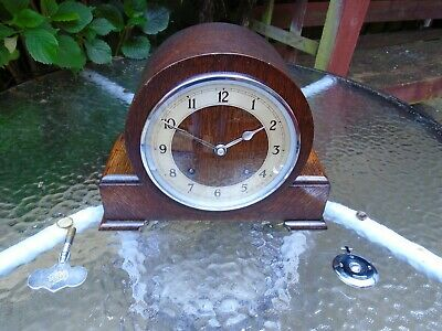 Garrard  Fully Restored Pendulum Strike Oak Mantle Clock