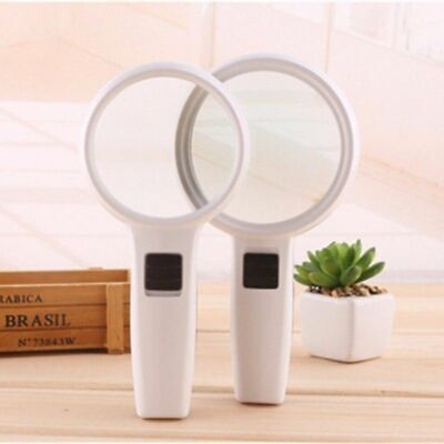 10X Handheld Magnifier Jewelry Loup Reading Magnifying Glass With 3 LED Light