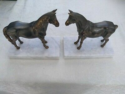 French Horse Book Ends