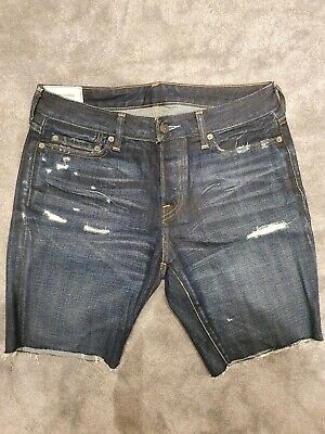 GENUINE Abercrombie & fitch ripped denim jeans A&F shorts - 30 standard fit