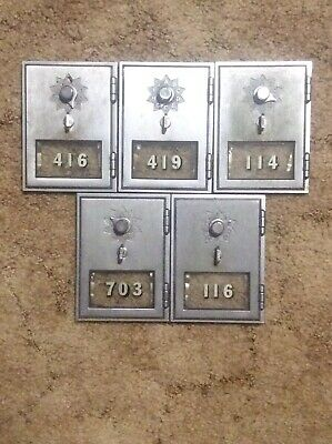 Lot Of 5 Vintage Post Office Box Doors