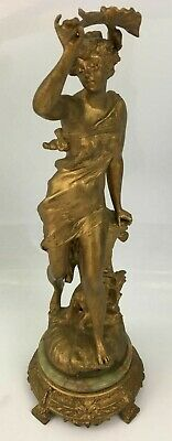 French Antique Spelter PARE By PAR FERRAND. Figurine 19th CENTURY MADE IN FRANCE