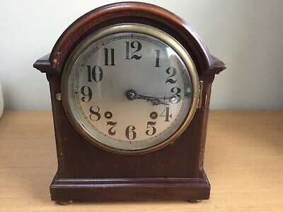 Antique Wooden Westminster Chimes Mantle Clock