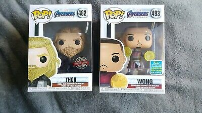 Avengers Endgame Thor Exclusive & Wong Sdcc 2019 Funko POPS Set Of 2 BRAND NEW