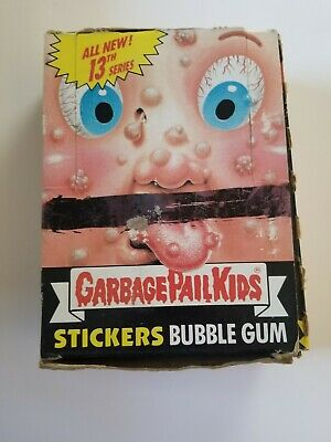1988 GARBAGE PAIL KIDS 13TH SERIES FULL BOX 48 Packs OS13 - WITH POSTER